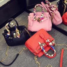Ins Korea Fashion Style Gadis Mini Selempang Miring Tas Selempang Kecil Tas Model Hermes (Abu-abu (besar 35 cm))