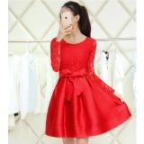 Jual Musim Gugur Dan Musim Dingin Perempuan Lengan Panjang Terlihat Langsing Setengah Panjang Model Rok Flared Rok Gaun Merah Lengan Panjang Oem Murah