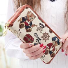 Linjiaxiaofei baru perempuan Jepang dan Korea Fashion Style ritsleting Clutch Wallet (Baru bajak laut dunia putih) Tas Tas Wanita dompet wanita