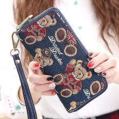 Tips Beli Linjiaxiaofei Baru Perempuan Jepang Dan Korea Fashion Style Ritsleting Clutch Wallet Baru Monaco Biru