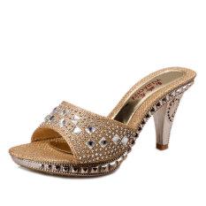 Harga Baru Satu Musim Panas Dengan Sandal Emas Lengkap
