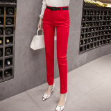 Beli Musim Semi Baru Slim Celana Kerja Merah Oem Online