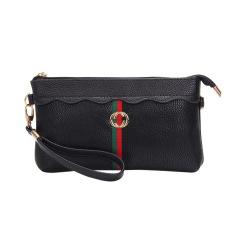 Spesifikasi Baru Wanita Model Panjang Dompet Tas Tangan Hitam Tas Tas Wanita Dompet Wanita Terbaru
