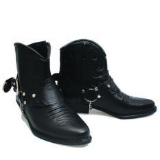 Promo Basama Soga Sepatu Boots Pria 763 Hitam Jawa Barat