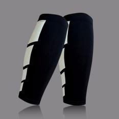 Lapisan Dasar Kompresi Leg Lengan Shin Guard Pria Wanita Bersepeda Leg Warmers Menjalankan Sepak Bola Basket Olahraga Betis Dukungan 1 Pc (warna: Hitam Ukuran: M)-Intl