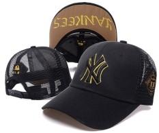 Baseball Caps Resmi MLB Unisex Olahraga Topi Snapback Caps New York Yankees Pria Wanita Modis Outdoor Hat (Hitam) -Intl