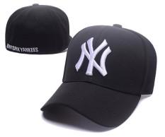 Baseball Caps Resmi Olahraga Topi MLB New York Yankees Unisex Pria Wanita Snapback Topi Bboy Adjustable Tabir Surya (Hitam) -Intl