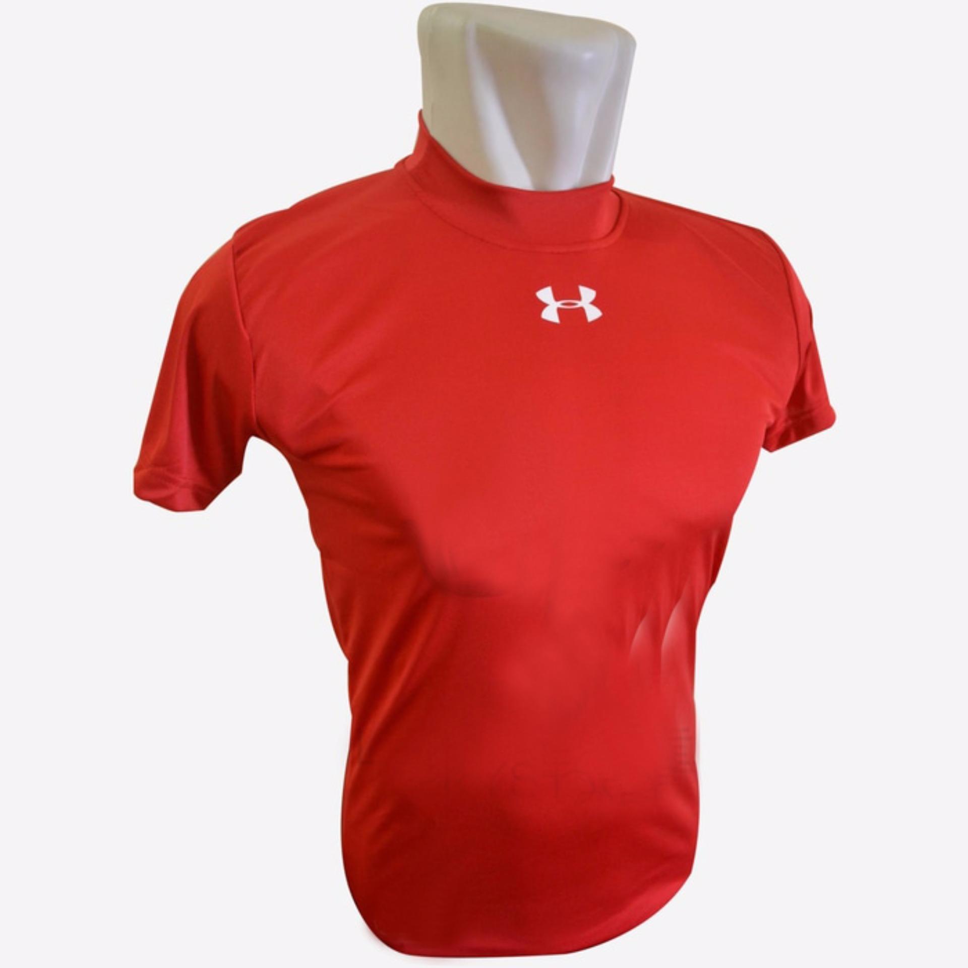 Pencarian Termurah Baselayer Lengan Pendek Baju Fitness Under armour Merah  Kudastore harga penawaran - Hanya Rp73 1019db8837