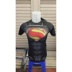 BASELAYER UNDER ARMOUR SUPERMAN HITAM