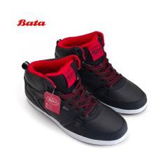 Bata B. First Sepatu Sekolah Anak Laki-laki Boots Tali 6656 - Hitam