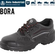 BATA BORA BLACK SEPATU SAFETY SHOES INDUSTRIALS TERMURAH PROYEK PABRIK - MXGQQD
