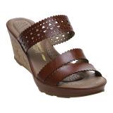 Diskon Bata Comfit Barba Wedge Sandals Cokelat Akhir Tahun