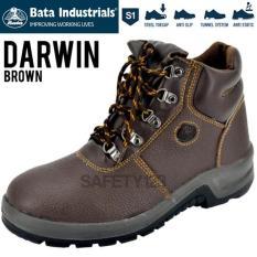 Bata Darwin Brown Cokelat Coklat Sepatu Safety Shoes Industrials Murah - 3Dd965