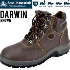 BATA DARWIN BROWN COKELAT COKLAT SEPATU SAFETY SHOES INDUSTRIALS MURAH - A5VE0I