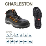 Jual Bata Industrial Charleston Safety Shoes Hitam Baru