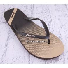 Bata Sandal Jepit Unisex 572-4549 Hitam Emas