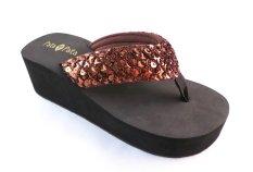 Bata Sandal Karet Wanita 572-4082 - Coklat