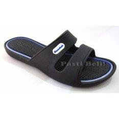 Bata Sandal Karet Wanita 572-6108 - Hitam Les Biru