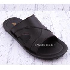 Bata - Sandal Kulit Pria Keren Elegant 871-4758 - Coklat