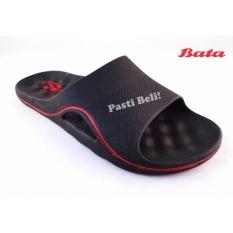 Bata Sandal Pria Karet Keren 872-6504 - Hitam (BEST SELLER)
