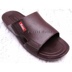Bata Sandal Pria Karet Simple 872-4240 Coklat Tua