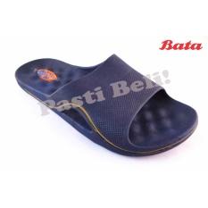 Bata Sandal Pria Karet Sporty 872-9504 - Biru (Best Seller)
