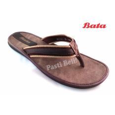 Bata Sandal Pria Keren 871-4084 - Coklat Tua