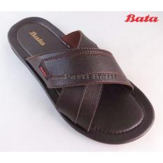 Bata - Sandal Pria Keren Elegan 871-4240 Cokelat Tua