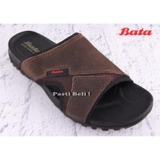 Bata Sandal Pria Kulit Keren 873-4023 - Coklat