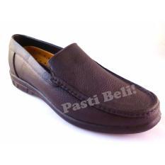 Bata Sepatu Pantofel Pria Keren Kantor Karet  832-4022 - Coklat Tua