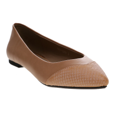 Bata Uniqu Ballerina Shoes - Beige