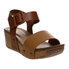 Bata Waite Wedge Sandals - Cokelat
