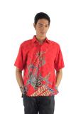 Harga Batik Adikusuma Kemeja Panjang Batik Pria Merak Sabit Merah Batik Adikusuma