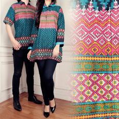 Spesifikasi Batik Couple Atasan Blouse Kemeja Tunik Wanita Dan Atasan Kemeja Pria Shirt Yolan Yang Bagus Dan Murah