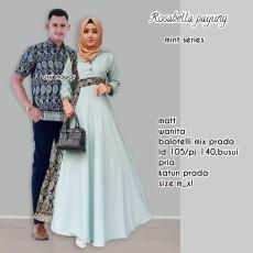 Batik Couple / Baju Batik Sarimbit Rosabella Payung