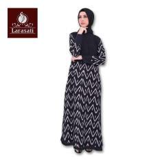 Batik Couple / Baju Gamis Batik Larasati Drupadi 11 Hitam Katun Klik