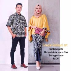 Batik Couple / Batik Sarimbit / Baju Kondangan Rabbani Set - Kuning