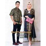 Jual Batik Couple Batik Sarimbit Batik Kondangan Aura Kasih Hitam Batik Original