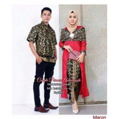 Spesifikasi Batik Couple Batik Sarimbit Batik Kondangan Aura Kasih Red Dan Harganya