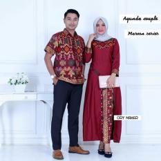 Batik Couple Batik Sarimbit Batik Kondangan Ayunda Etnic Maroon Batik Murah Di Di Yogyakarta