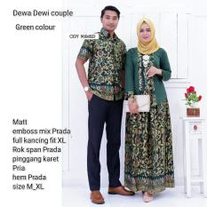 Diskon Batik Couple Batik Sarimbit Batik Kondangan Dewa Dewi Green Di Yogyakarta