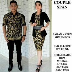 Batik Couple Modern Kebaya Span Pendek /Couple Modern Murah