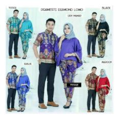 BATIK COUPLE SARIMBIT SERAGAM PESTA BAJU MUSLIM GAMIS MAXI DRESS JUMBO