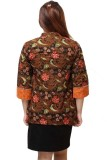 Harga Batik Distro Ba4195 Blus Wanita Kombinasi Polosan Orange Origin