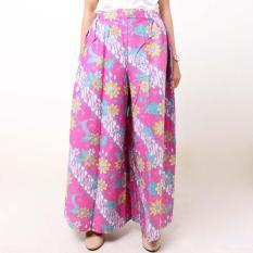 Batik Distro R1304 Celana Wanita Kulot Panjang - Pink
