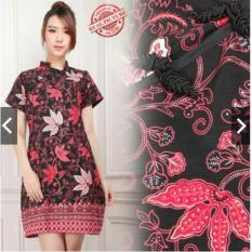 Gaun Pesta Batik Silk Cheongsam - Batik Imlek - Baju Pesta Sincia - Baju Kondangan Wanita - Batik Mini Dress  - Katun