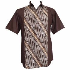 Jual Batik Nagarihardja Batik Pria Kombinasi 13 Parang Cokelat Satu Set