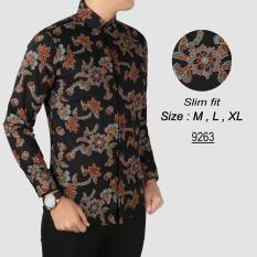 Diskon Batik Pria Modern Kemeja Pria Slim Fit 9263 Akhir Tahun