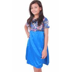 Batik Putri Ayu Solo Batik Anak Gamis GA1 [Biru]