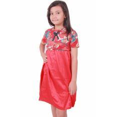 Batik Putri Ayu Solo Batik Anak Gamis GA1 [Merah]